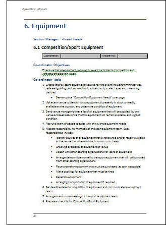 Event Management Guide Create Your Own Event Operations Manual - Employee operations manual template