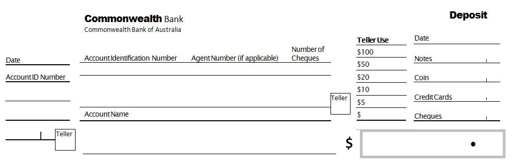 Source Documents: The Bank Deposit Slip
