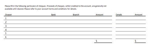 deposit form excel template  Source Documents: The Bank Deposit Slip